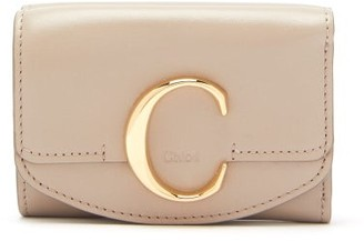 Chloé The C Logo Leather Wallet - Womens - Grey