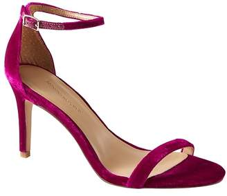 Banana Republic Bare High Heel Velvet Sandal