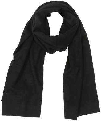 Saint Laurent Black Wool Scarves