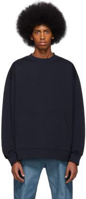 Dries Van Noten Navy Holford Kangaroo Sweatshirt