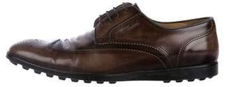 Gucci Leather Wingtip Derby Shoes