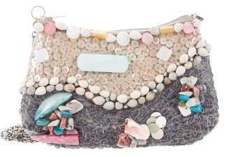 Mary Frances Shell Embellished Mini Crossbody Bag