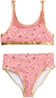 Jantzen Mermaid Mesh Detail Bikini (Big Girls)