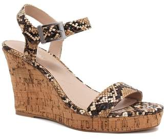 Charles by Charles David Lindy Faux Snake Wedge Sandal