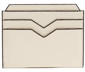 Valextra Grained Leather Cardholder - Mens - White