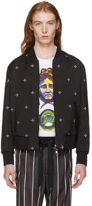 Neil Barrett Reversible Black and White Cross Bomber Jacket