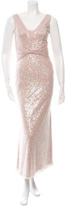 Vera Wang Sequined Evening Dress $175 thestylecure.com