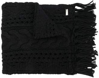 Woolrich cable-knit scarf