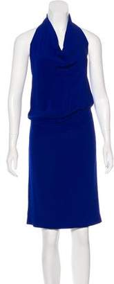 Alberta Ferretti Sleeveless Halter Dress