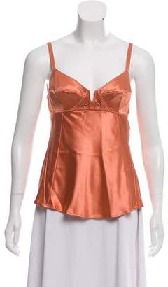 Donna Karan Sleeveless Silk Top