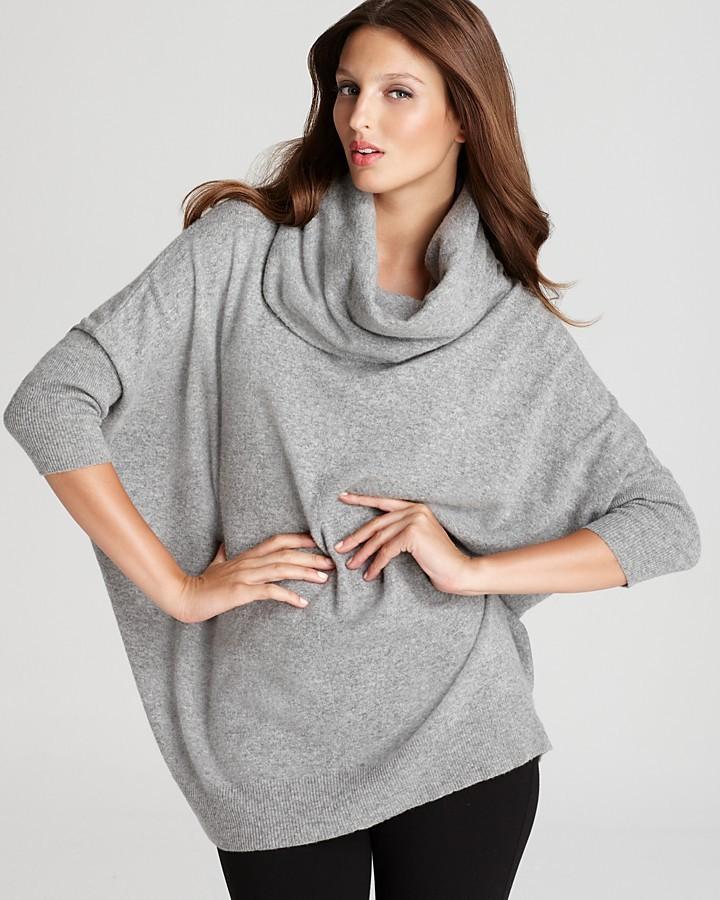 DKNY Three Quarter Sleeve Cowl Neck Sweater