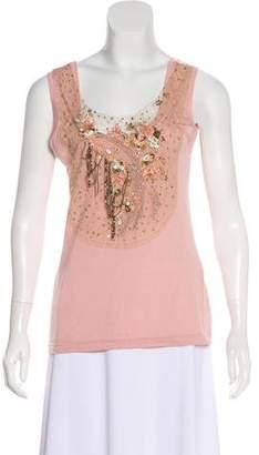 Blumarine Sleeveless Embellished Top w/ Tags