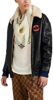 Gucci Men's NY YankeesTM Modal-Silk Gauze Scarf - Cream