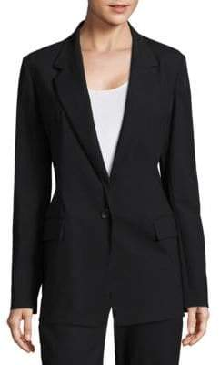 Donna Karan Wool-Blend Single-Breasted Blazer