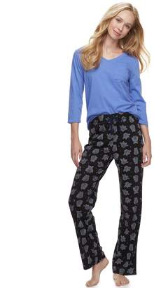 Sonoma Goods For Life Women's SONOMA Goods for Life Basic Tee & Pants Pajama Set