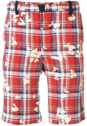 Sacai printed checked shorts