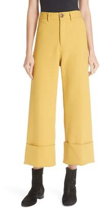 Sea Cuff Crop Wide Leg Pants