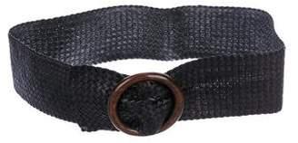 Michael Kors Leather Woven Belt