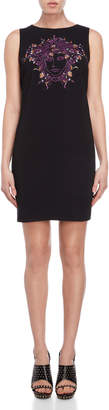 Versace Black Medua Embroidered Shift Dress