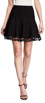 Cinq à Sept Azalea Tassel-Hem Skirt