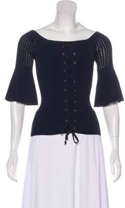 Intermix Long-Sleeve Knit Top
