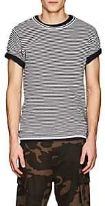 Saturdays NYC Men's Brandon Striped Waffle-Knit Cotton T-Shirt-Black