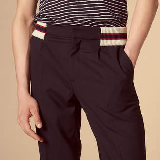 Sandro Smart varsity carrot-cut trousers