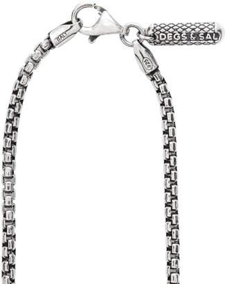 "Degs & Sal Men's Box Chain Necklace, 24""L"