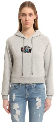 Cropped Cotton Sweatshirt Gigi Hadid $170 thestylecure.com