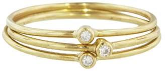 Jennifer Meyer Triple Diamond Ring Stack - Yellow Gold