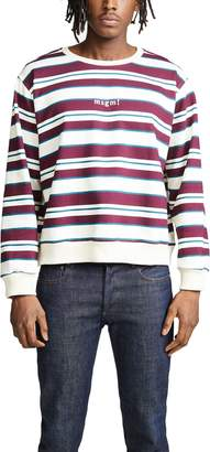 MSGM Striped Print Sweatshirt