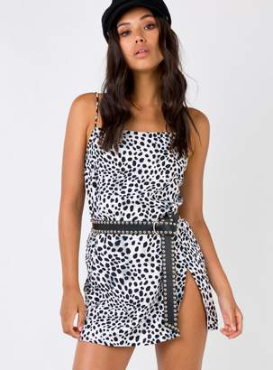 Motel Datista Slip Mini Dress Dalmatian