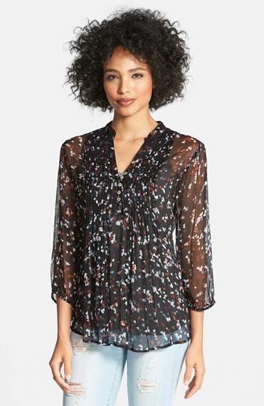 Casual Studio Pleated Print Blouse