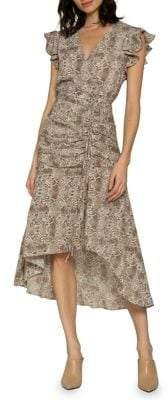 Walter Baker Kellie Python-Print Dress