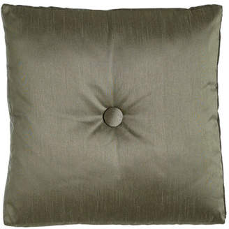 "Dian Austin Couture Home Le Plaza Solid-Color Box Pillow with Button Center, 20""Sq."