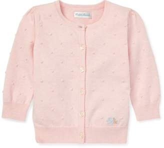 Ralph Lauren Scalloped Cotton Cardigan