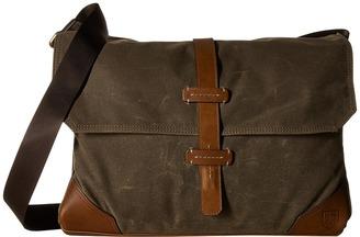 Allen-Edmonds Canvas/Leather Messenger Bag $295 thestylecure.com