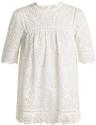 Zimmermann Bayou Embroidered Cotton Top - Womens - Ivory