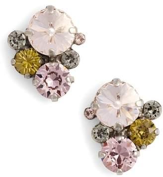 Sorrelli Army Girl Crystal Stud Earrings