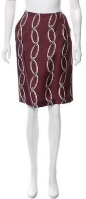 Altuzarra Chain-Link Print Knee-Length Skirt
