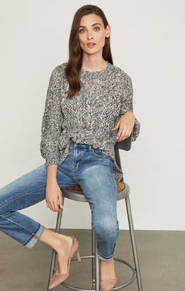 BCBGMAXAZRIA Open-Stitch Cable Sweater