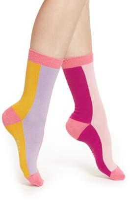 Paul Smith Gisele Vertical Stripe Crew Socks