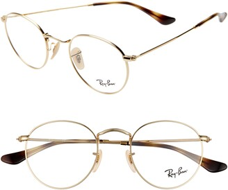 Ray-Ban Ray-Bay 47mm Round Optical Glasses