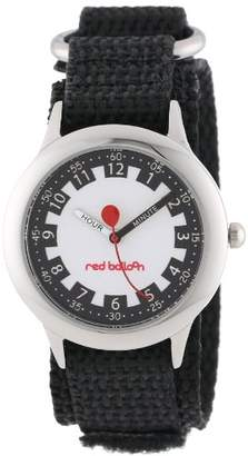 """Red Balloon Kids' W000186 """"Time Teacher"""" Stainless Steel Watch with Adjustable Nylon Strap"""