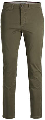 Jack and Jones Men's Classic Olive Chino Pants