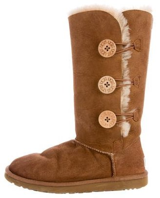 UGG Australia Bailey Button Triplet II Boots $125 thestylecure.com