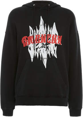 Givenchy Printed Cotton-Jersey Hooded Sweatshirt
