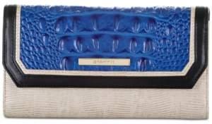 Brahmin Soft Checkbook Cobalt Laverne Leather Wallet