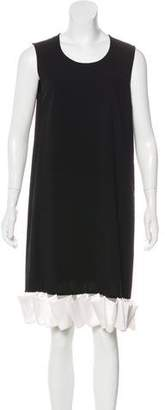 Givenchy Ruffle-Trimmed Wool Dress