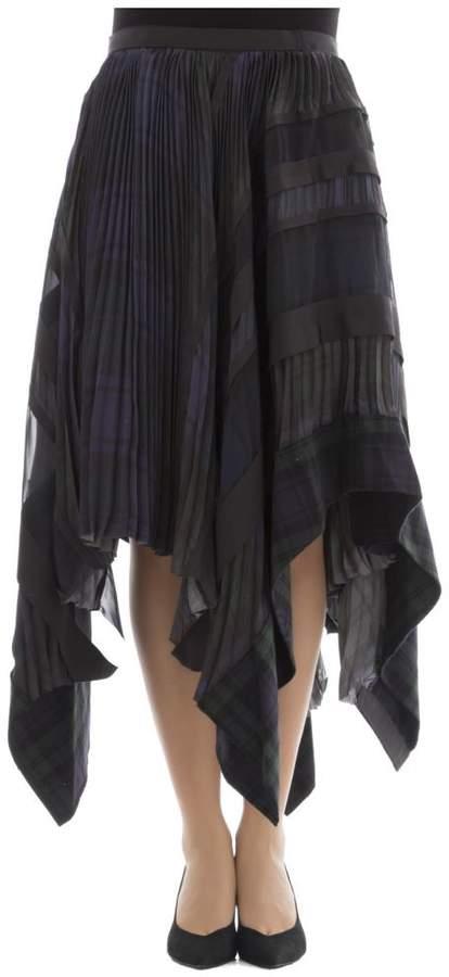 Multicolor Polyester Skirt